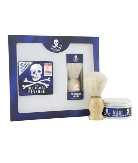 Bluebeards Revenge-Shaving Cream & Doubloon Brush Kit Zestaw do Golenia