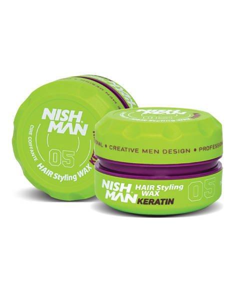 Nishman-05 Hair Styling Wax Keratin Pomada do Włosów 150ml