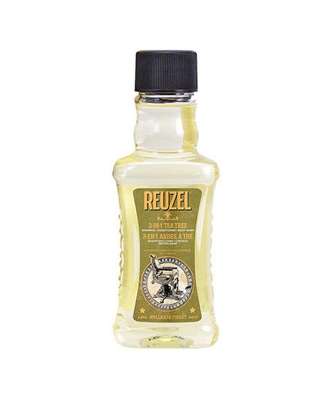Reuzel-3 in 1 Tea Tree Szampon + Odżywka + Żel pod Prysznic 100 ml
