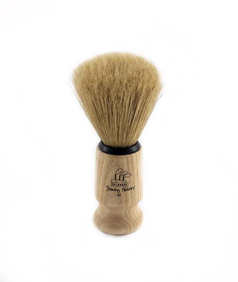 Shave Factory-Pędzel do Golenia z Drewnianą Rączką