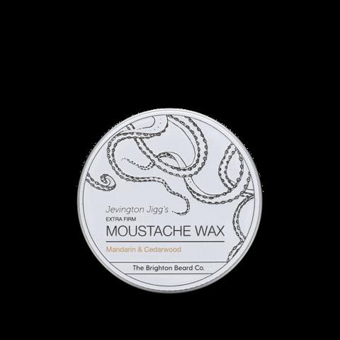 The Brighton Beard Co-Jevington Jigg's Extra Firm Moustache Wax Mandarin & Cedarwood Wosk do Wąsów 30ml